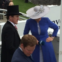 Clare, the inimitable with Sir Tony McCoy